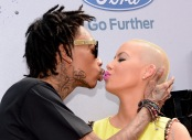 063013-shows-beta-2013-red-carpet-amber-rose-wiz-khalifa-kiss-2
