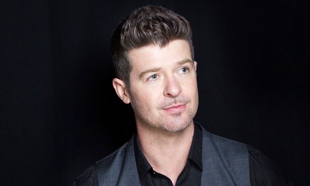 Robin Thicke … on the drink.